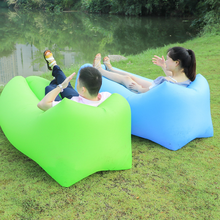 Lightweight outdoor inflatable sofa seat with portable folding sofa