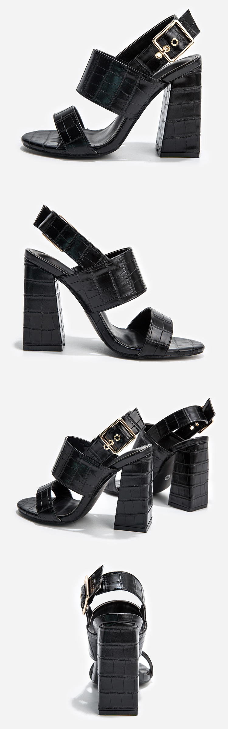 2020 new fashion designs sexy sandals for women and ladies block high heels leather dress shoes