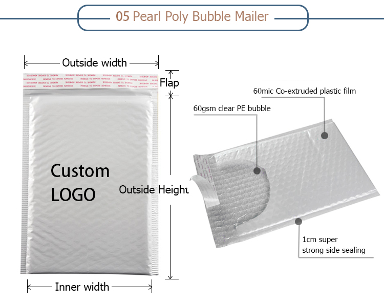 bubble cushioned mailer/air bubble bag/bubble pouches cushioning wrap bags