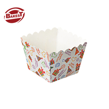 BAKEST New high temperature bulk baking cake trays for cupcakes packaging