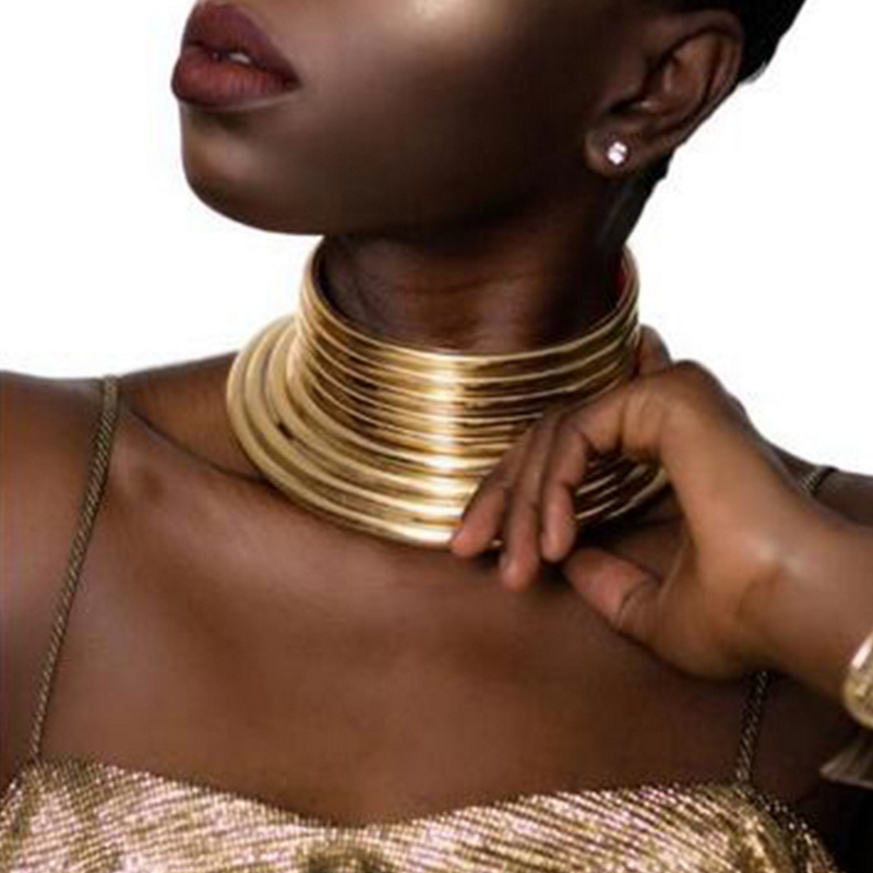 Africa Bohemian Necklace For Women Vintage Statement Choker Necklace Boho Jewelry
