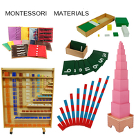 montessori materials Kids Wooden Educational Children Toy 88 pieces sets for Montessori school