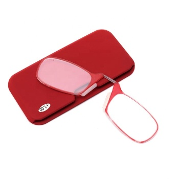 wholesale portable best fashion ce pocket wallet flexible thin mini nose resting reading glasses