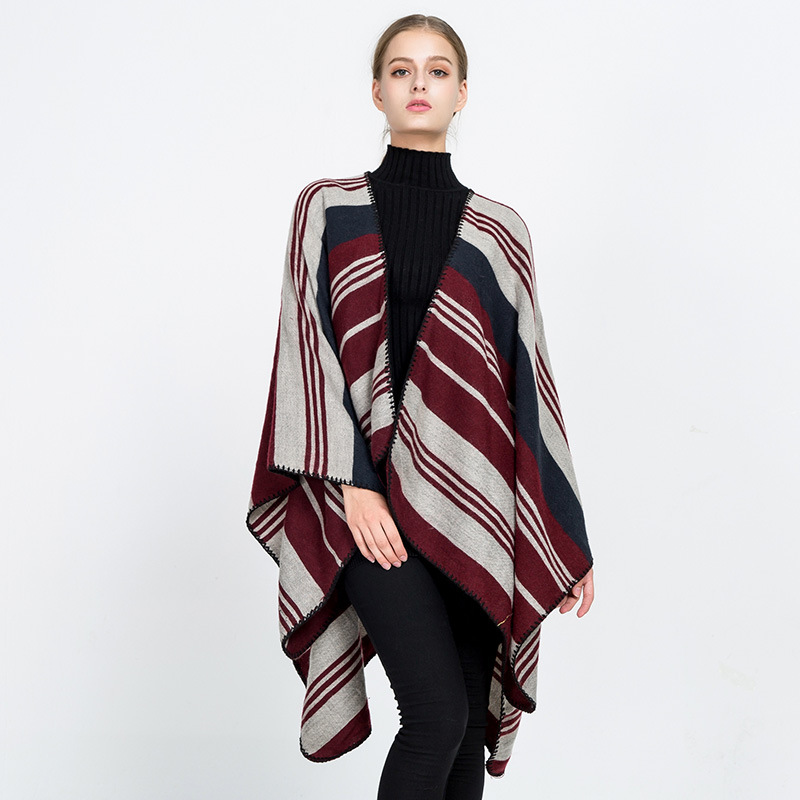 2019 Fashion Scarves Capes Multi-Function Women Warm Pashmina Poncho Winter Shawl For Lady