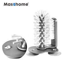 Masthome Top sell New design water cup <strong>glass</strong> bottle cleaning dish washing scrubber brush for kitchen cleaning