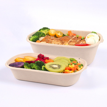 GCG RTS 700ML Sugarcane Lunch Box Microwaveable Disposable Takeaway Food Container