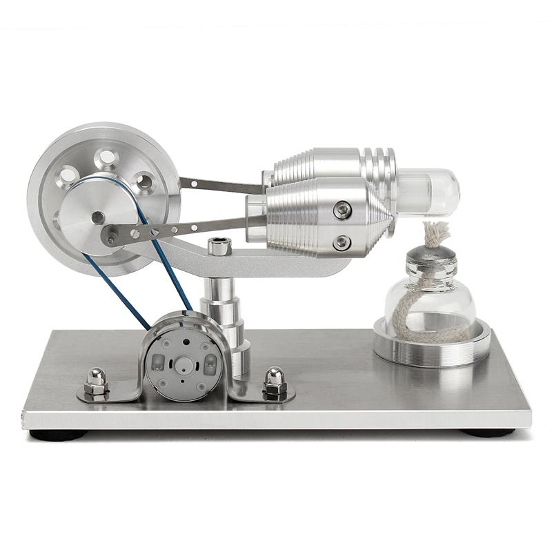 Stirling Engine Kit Tractor Design vacuum Engine Motor Fan Model Science Education Toy Gift - Enginediy Full Aluminium <strong>Alloy</strong>