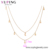 47038 xuping Fashionable Lady Fresh Fresh Style Star and Moon Clavicle Charm Double Layer Necklace with Zircon