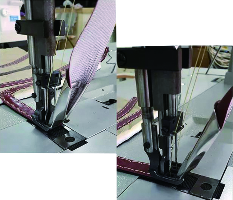 Car floor mat needle stitching Long arm sewing machine