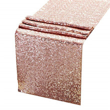 Rose Gold Sequin Table Runners,<strong>12</strong> <strong>X</strong> 108 Inch Glitter Rose Gold Table Runner For Wedding Birthday Bachelorette Baby Shower Party