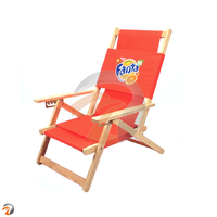 Wooden Outdoor Pool Folding Beach Beach Chair For Beach And Pool