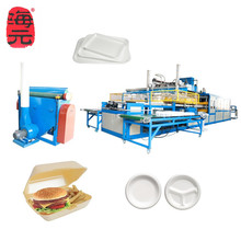 Machine for making plastic foam disposable food box/tray/container production <strong>line</strong>, Amy whats 008613573511028