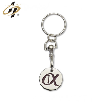 Wholesale zinc alloy metal soft enamel custom trolley coin keyring