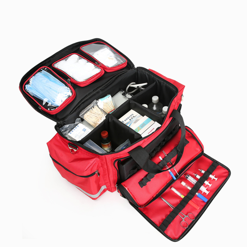 The medical device bag the first aid <strong>kit</strong> with removable pockets