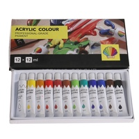 professional grade pigment 12 colors 12ml tube acrylic colours set for painting