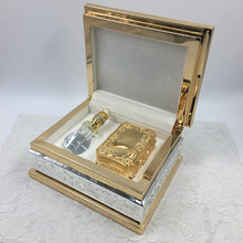 IN STOCK Wholesale Accept <strong>OEM</strong> &amp; ODM Luxury Gold Packaging Wooden Arabic Perfume Women Storage Boxes With A Small Box