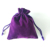 Eco Promotion Custom Logo Velvet Fabric Jewelry Pouch Shoe Makeup Small Drawstring Bag