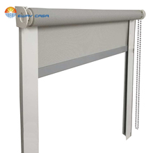 Sunscreen Roller Blinds with Rail guide Outdoors 4-5% Openness Roller Shades Waterproof Roller Shades