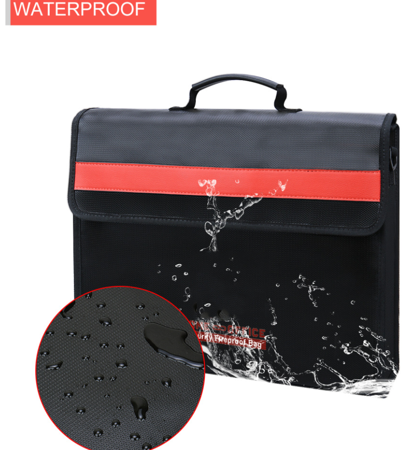 Fireproof and Waterproof Money and Important Document Bag (15 x 11 x2.95 in)