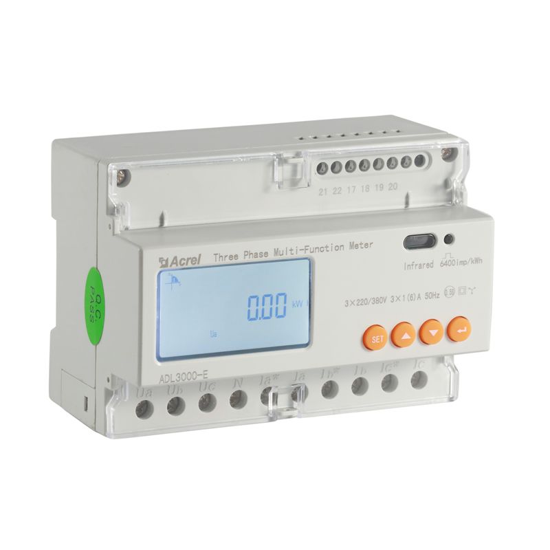 3 phase energy meter LCD display din rail modbus energy meter ADL3000-E/<strong>C</strong>