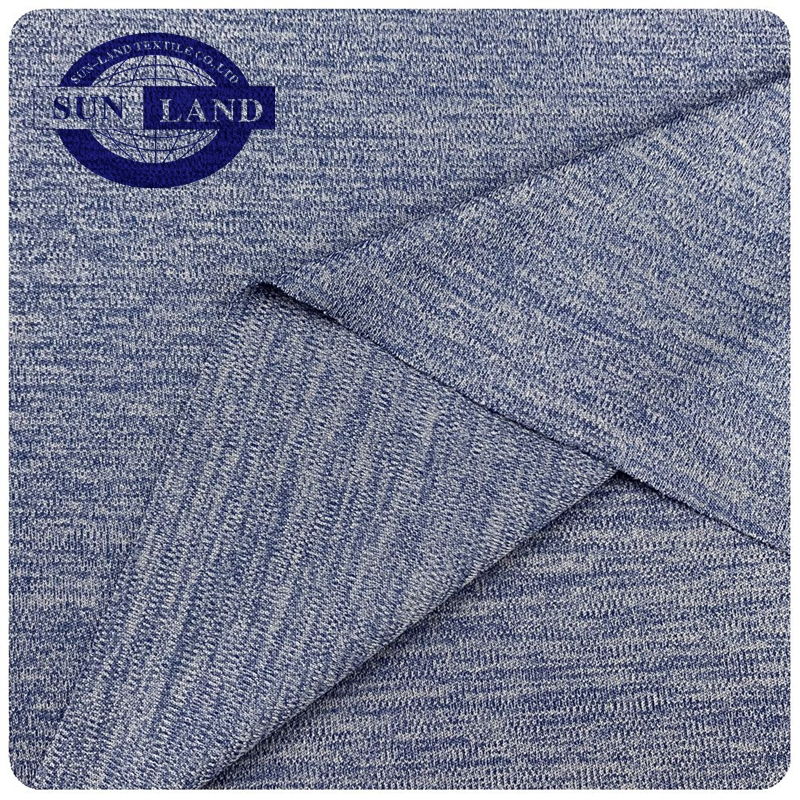 two-color melange clothing 100% polyester home textile cushion mattress tatami usage jacquard knitting waffle fabric