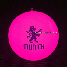 Wholesale Promotional PVC Inflatable Led Beach Ball With Custom Logo