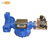 "3"" digital diesel fuel oil positive displacment electronic flow meter with solenoid valve"