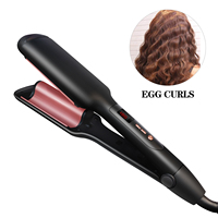 As Seen On TV 2019 Tourmaline Crimping Wave Iron Electric Hair Curlers With PTC Heater Triple Barrel Hair Curler
