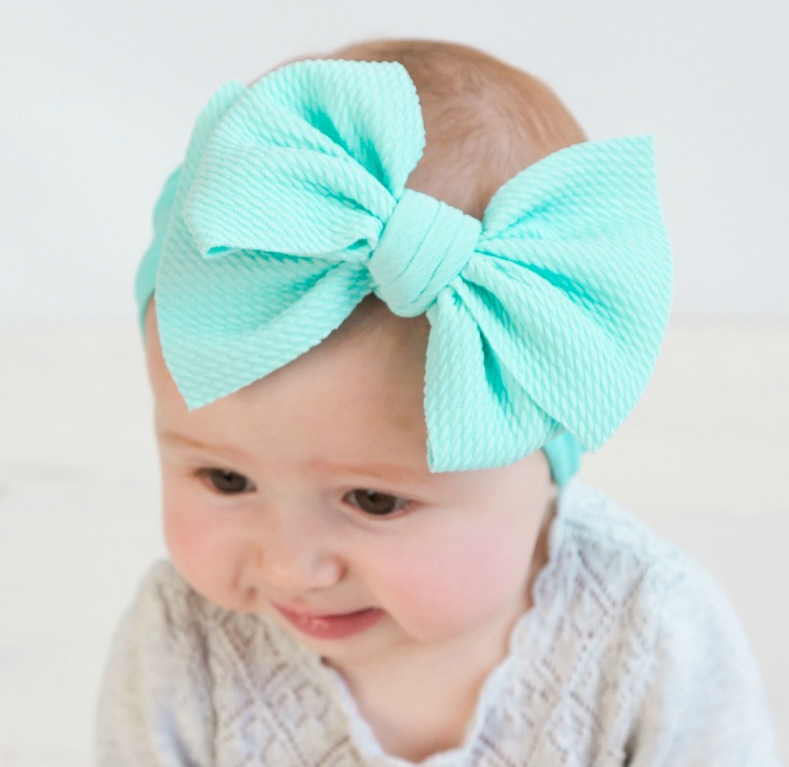 Many colors Big Bow headwrap Textured Fabric Baby Bows <strong>Headband</strong>