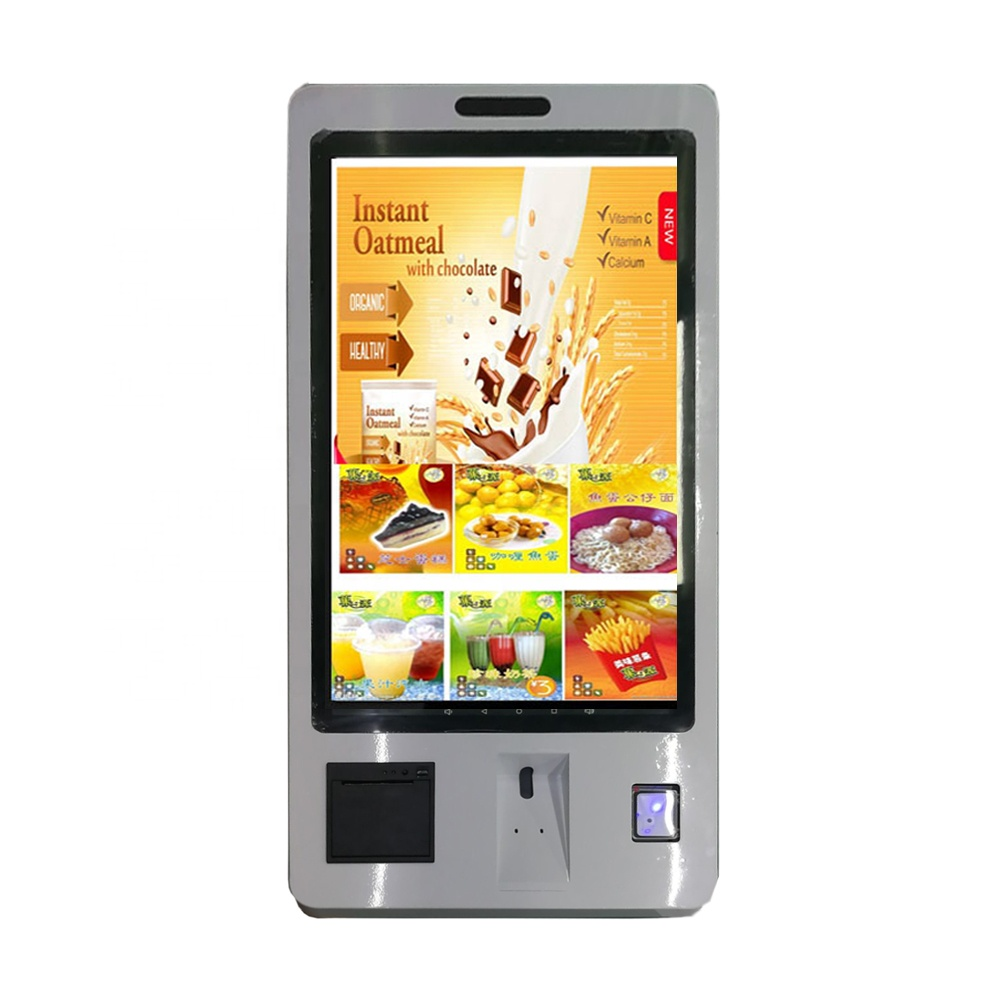 SYET 22&quot; Self Service Touchscreen Kiosk <strong>Payment</strong> Ticket Vending Machine For Fast Food