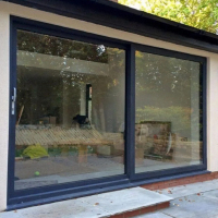 Custom heavy duty big glass external aluminium frame double house plexiglass french patio sliding door prices