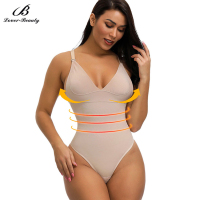 Skin 3 Hooks Breathable Crotch Tummy Control Seamless Thong Body Shaper For Women