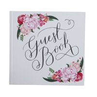 White Rustic Plain In Love Memory Guest Book Diary Emboss Sign In Book