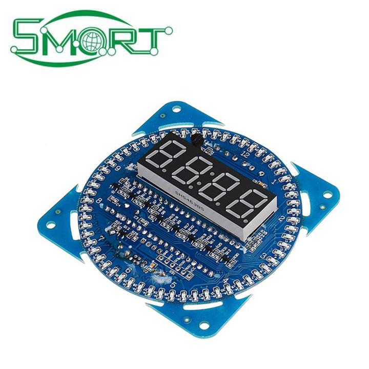 Smart Electronics~Rotating LED Display DIY Creative Electronic Alarm Clock Temperature Time Display DIY Learning Board Clocks