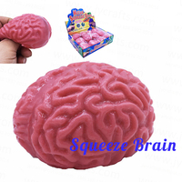 Practical Joke Toy Terror Severed Squeeze Fake Brain for Halloween Gag Gift Toy