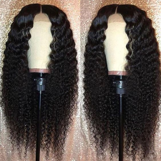 150 Density Brazilian deep curly Lace Front Human Hair Front Lace Wigs With Baby Hair Pre Plucked Natural Hairline Remy