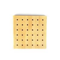 Perforated natural veneer wooden acoustic panel