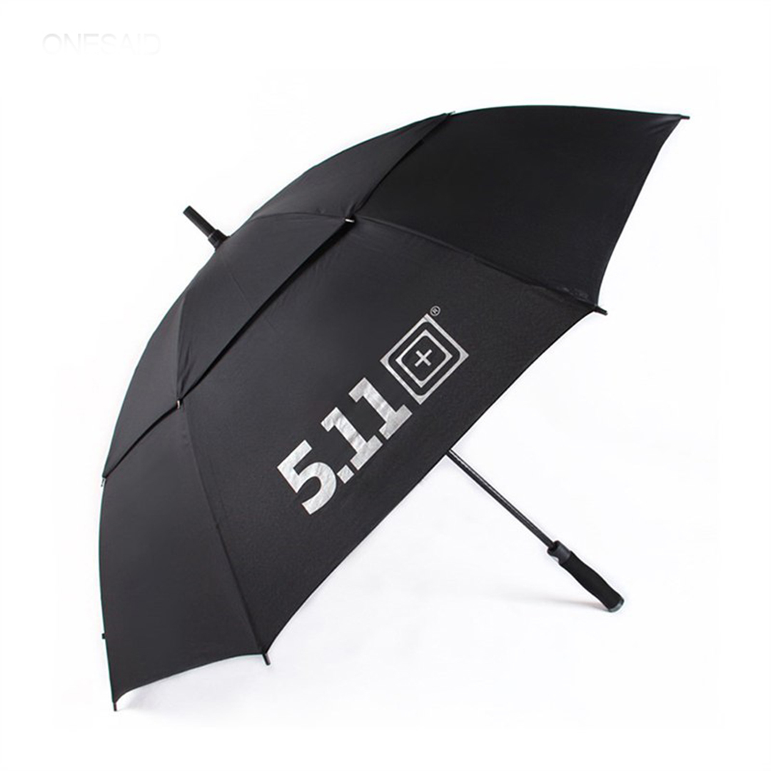 5.11 barclays newest design windproof double canopy vent custom logo large size golf umbrella