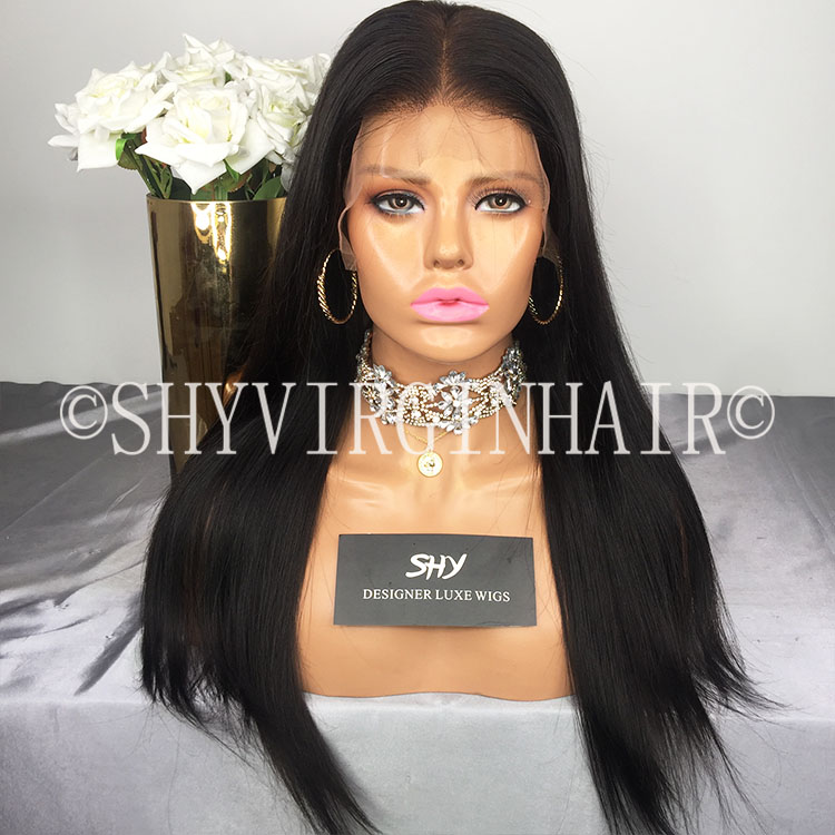 Overnight Delivery Preplucked Human Hair Silk Base Full Lace Wig With Baby Hair
