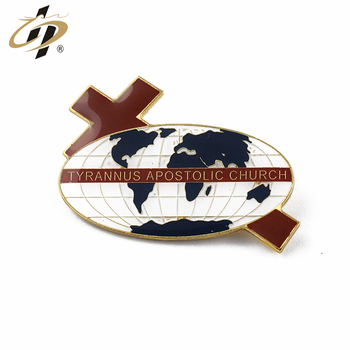 Hot design custom gold global map enamel lapel pin with epoxy