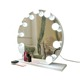 Round magnifying desktop LED makeup mirror double side swivel cosmetic mirror with LED lights