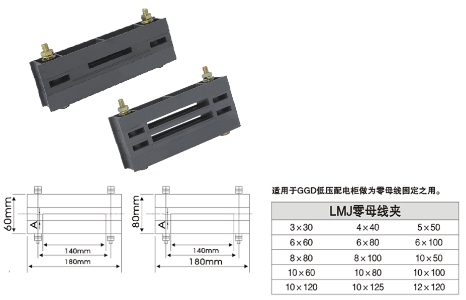 Zero busbar clamp