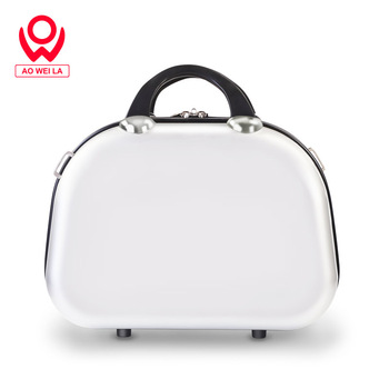 Aoweila Women's small make-up box can be lifted and carried, ABS + PC Customized wear-resistant handbag