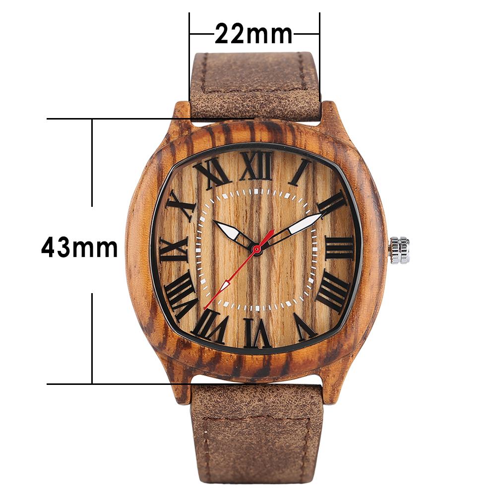 wholesale oem moq custom design your own brand square wood watch图片
