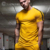 Athletic Apparel Manufacturers Yellow Running T Shirt Bodybuilding Gym Wear Men