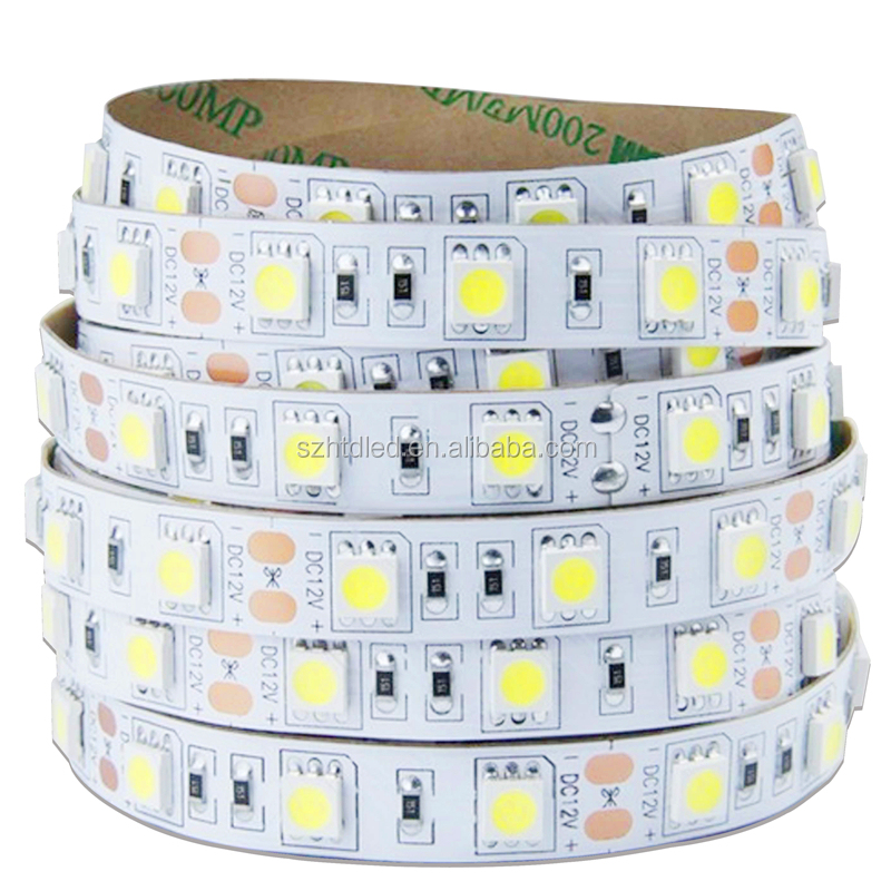 60 <strong>leds</strong> per meter DC12/24V single color IP65 SMD5050 high quality <strong>led</strong> flexible strip