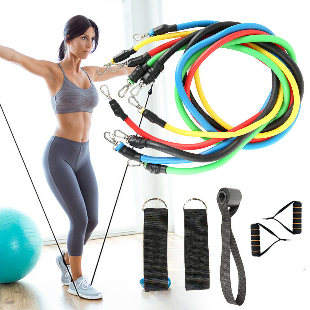 multi-function Home Workouts 11 pcs pull rope <strong>fitness</strong> exercises resistance band set