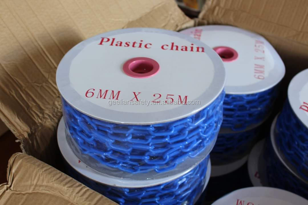 Traffic safety dia 6mm/8mm traffic barrier plastic Chain