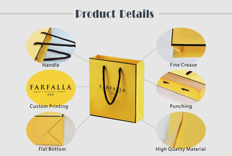 Custom logo printed eco-friendly luxury paper gift shopping bags