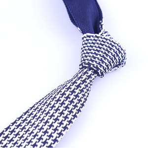 Latest design Hot selling dots design 100% polyester knitted tie for men #10